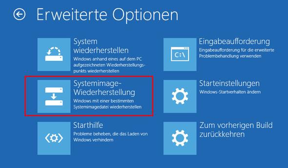 Wiederherstellung der Systemabbilder - (Windows, Backup)