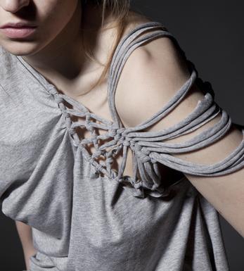 T Shirt Verschönern Mit Knüpftechnik Mode Selber Machen Handarbeit