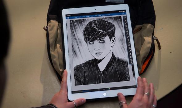 Eins seiner Bilder - (Tablet, zeichnen, Scream)
