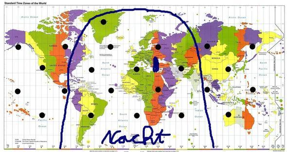 Tag/Nacht-Grenze am 1.4.12 um 0 Uhr - (Schule, Elektronik, Tage)