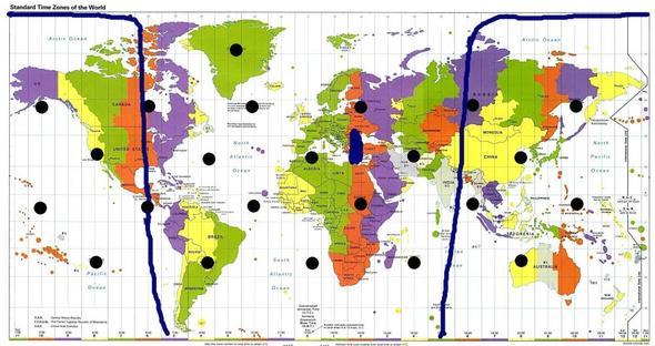 Tag/Nacht-Grenze am 1.10.12 um 0 Uhr - (Schule, Elektronik, Tage)