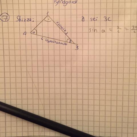 """Meine Skizze und """"halber Ansatz"""" - (Schule, Mathe, Gymnasium)"""