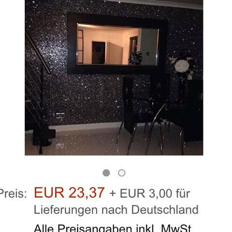 Schwarze Glitzer Tapete   (kaufen, Dekoration, Baumarkt)