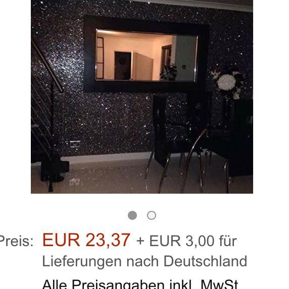 Tapete mit glitzer wo kaufen dekoration baumarkt for Schwarze glitzer tapete