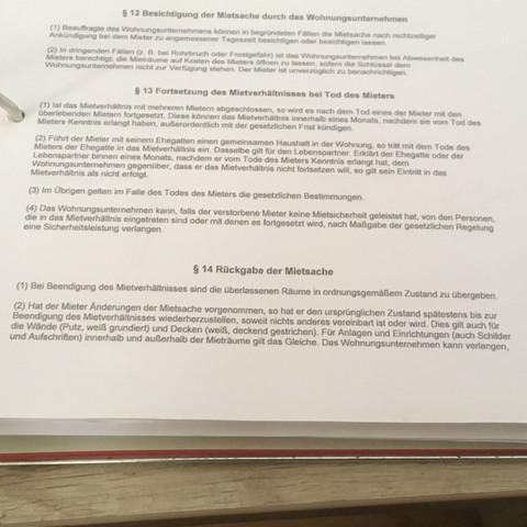 Auszug aus dem Mietvertrag 1 - (Wohnung, Mietrecht, Vermieter)