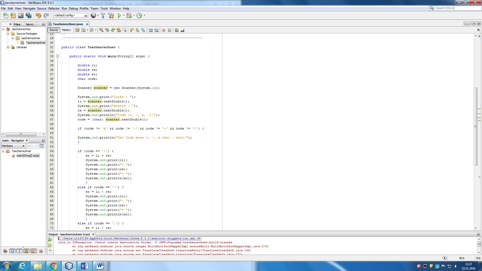Taschenrechner in Java geht nicht If else? (programmieren)