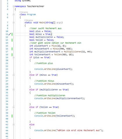Taschenrechner Projekt mit C#?