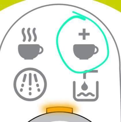 Tassimo Kaffemaschine was heisst dieser Knopf?