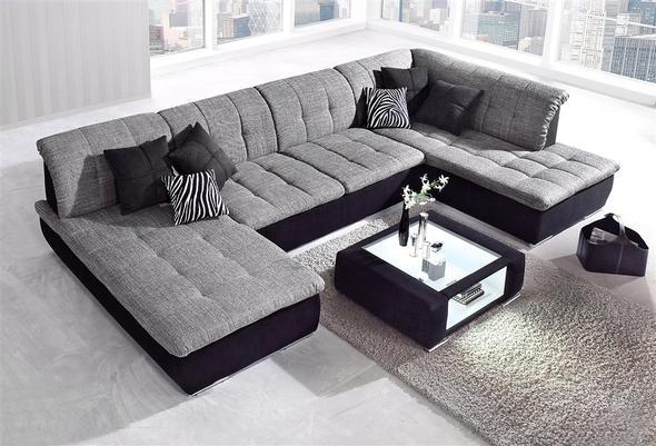 Große Wohnlandschaften tatsächliche größe der wohnlandschaft wohnen sofa