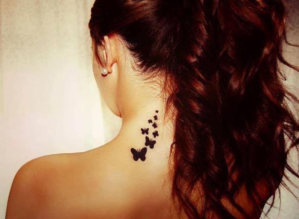 Nacken seitlich - (Körper, Tattoo)