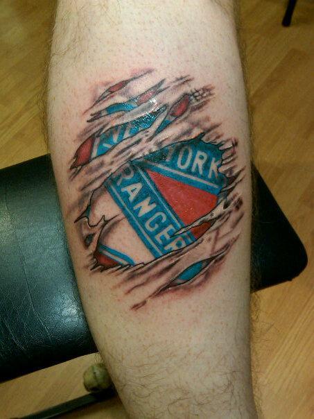 New York Rangers Tattoo Designs