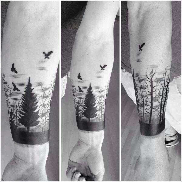 Tattoo Ideen Natur Bäume Tiere