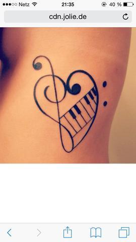 klavier (spiele 8 jahre) - (Tattoo, motive)