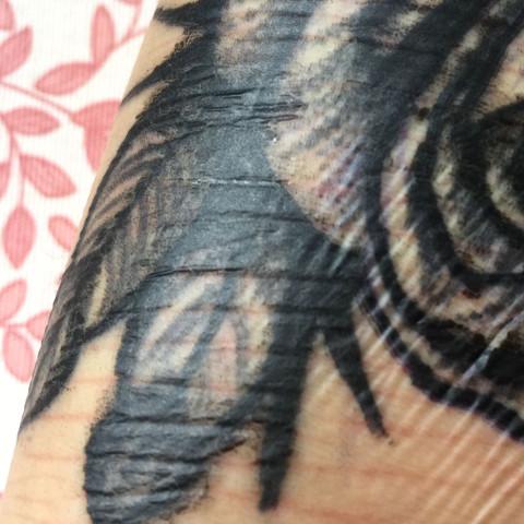 1 Tattoo trocken  - (Farbe, Tattoo, Heilung)