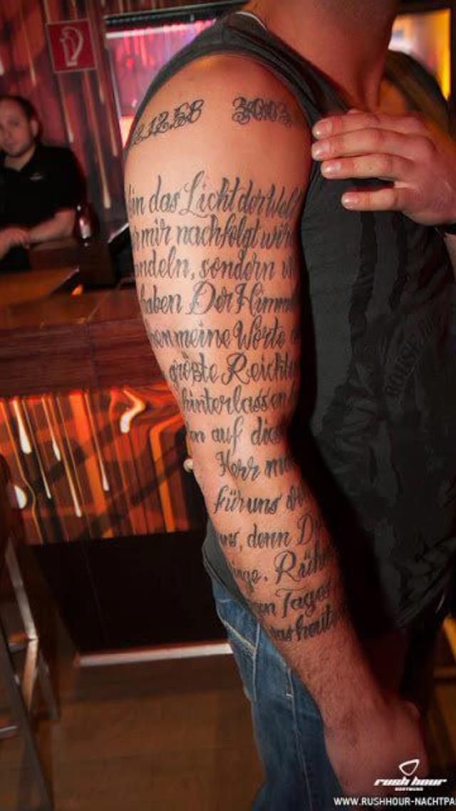 tattoo bilder fr oberarm tattoo vers gedicht obermarm komplett verse. Black Bedroom Furniture Sets. Home Design Ideas