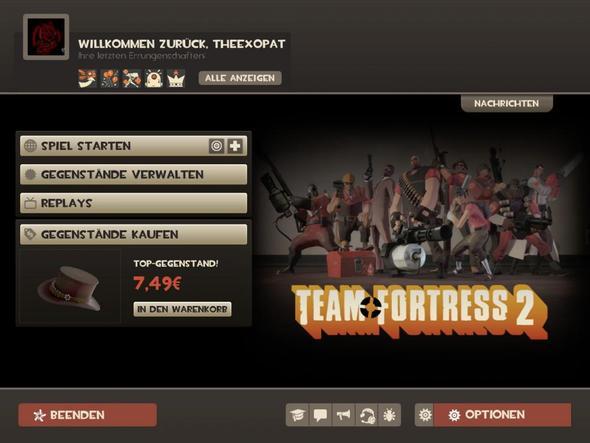 Das normale Menü - (Menü, Valve, Team Fortress 2)