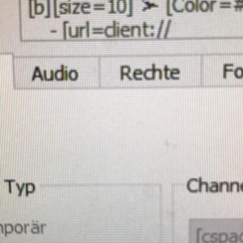 Also das URL=client:// - (Code, Teamspeak, ts3)