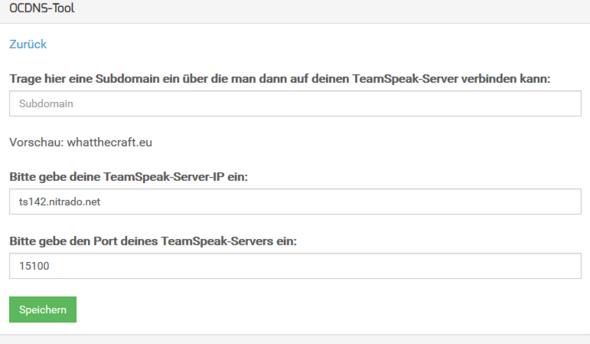 TeamSpeak Server auf MC-HOST24 Domain umleiten?