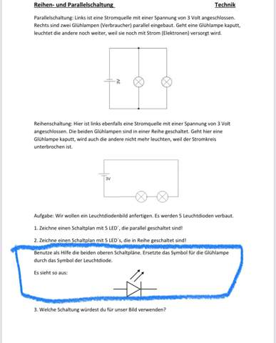 Technik Hausaufgaben?