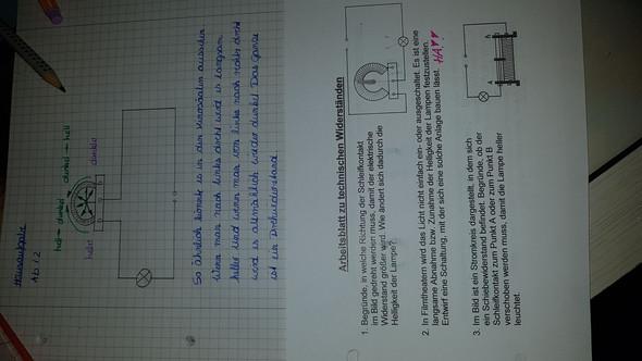 Technische Widerständea-ha Klasse 8 Physik? (Schule, Hausaufgaben ...