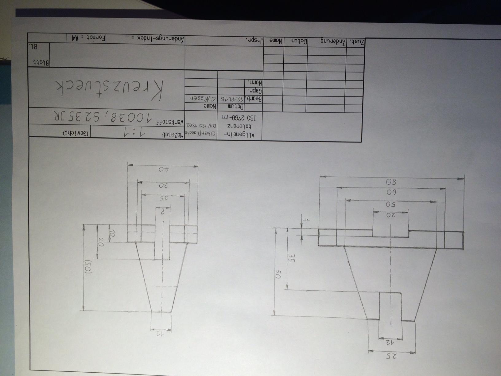 technische zeichnung richtige ansichten und annahmen technik studium zeichnen. Black Bedroom Furniture Sets. Home Design Ideas