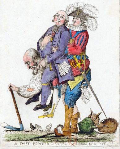 Karikatur wer trägt die lasten - (Geschichte, franzoesisch, Revolution)