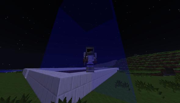 Blaue Wände - (Minecraft, Tekkit, chunk)
