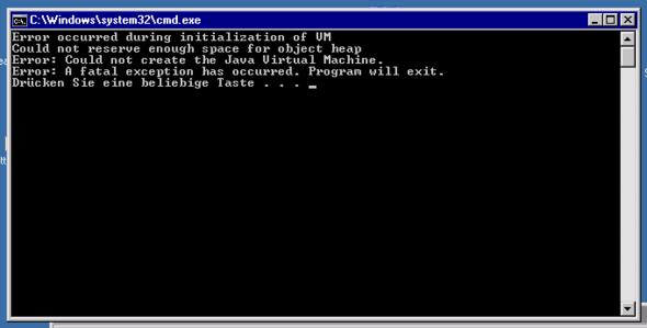 Fehlermeldung (Eine von vielen. Je nach start.bat.) - (Minecraft, Server, RAM)