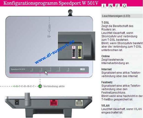 Speedport W501V - (Internet, Software, Hardware)