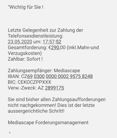 Telefonsex dienstleistung aus CZ?