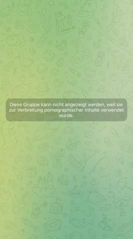 Telegram Gruppe Fehler?