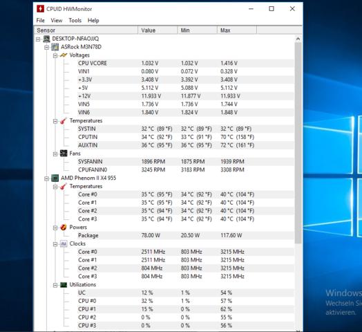 HM Monitor Screenshot 1 - (Computer, Hardware)