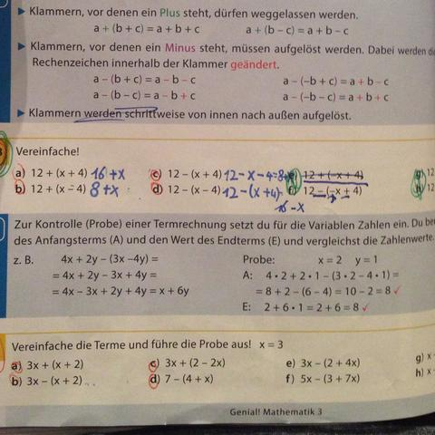 Terme Probe (Mathe, Rechnen)