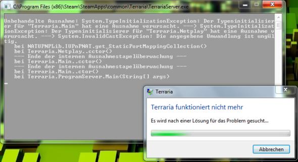 Hier ein Bild wenn ich die TerrariaServer.exe starte. - (Computer, PC, Steam)