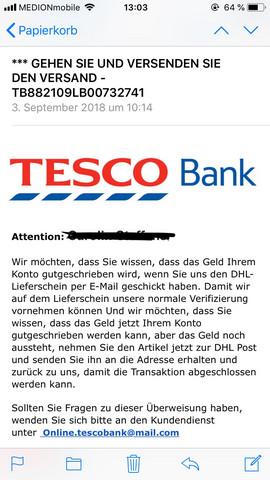 Tesco Bank User Betrug Uber Ebay Iphone Ebay Kleinanzeigen