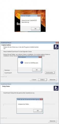 Angezeigte Fehler - (Computer, installieren, Scanner)