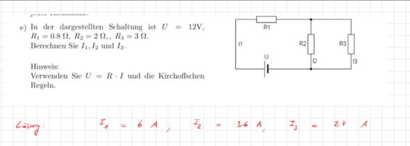 Textaufgabe-Matrix, Elektrizitätslehre?