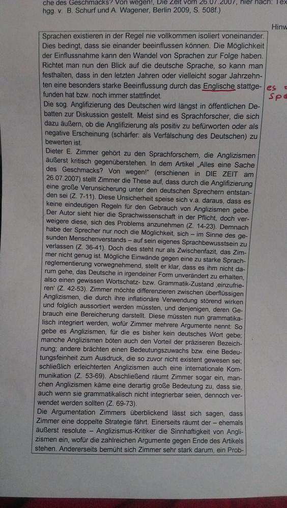 Wie Schreibe Ich Eine Analyse In Deutsch