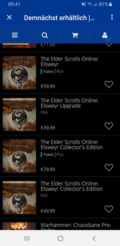 The elder scrolls online pakete?
