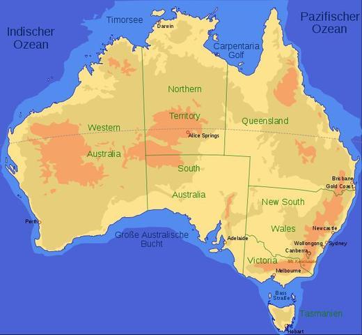 Karte Australien Englisch.The Outback Of Australia Karte Englisch Pflanzen Erdkunde