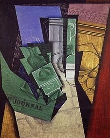 thema bildgattung das fr hst ck von juan gris kunst kubismus. Black Bedroom Furniture Sets. Home Design Ideas