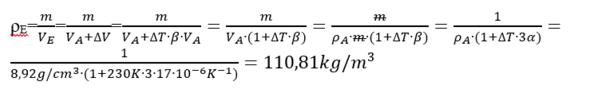- (Physik, Dichte, thermische ausdehnung)