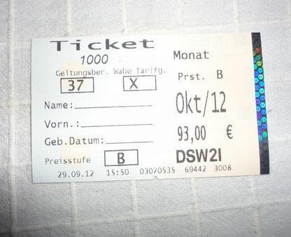 Ticket 2000 Bochum