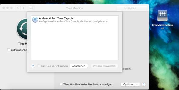 NAS verbunden, Aber nicht in TimeMachine Verfügbwar... - (Apple, Server, Mac)