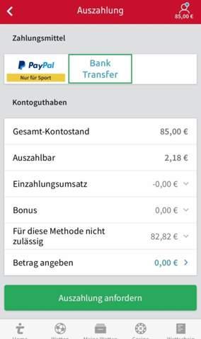 Bank Wette Tipico