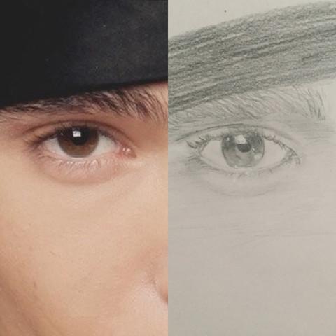 Das Auge von Tom Kaulitz :) - (Augen, Kunst, zeichnen)