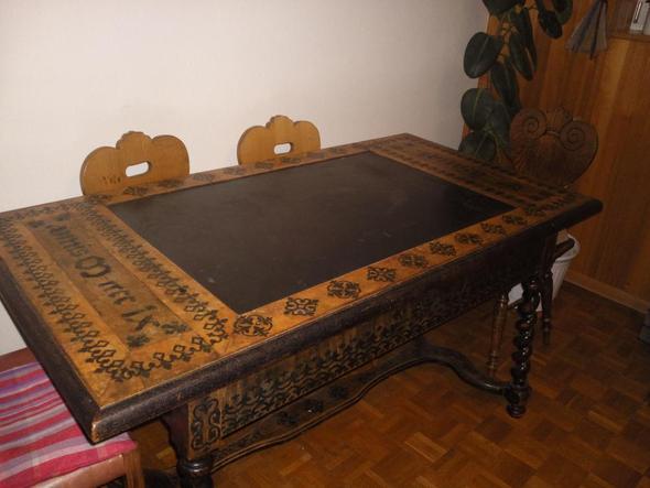 Tisch antik preis holz for Tisch marmorplatte antik