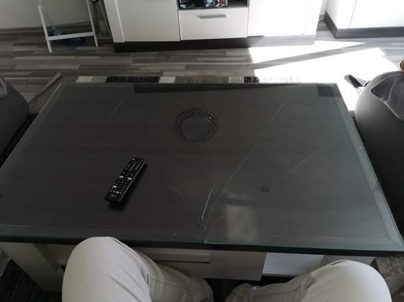 Tischglas kaput was ist die Höhe?