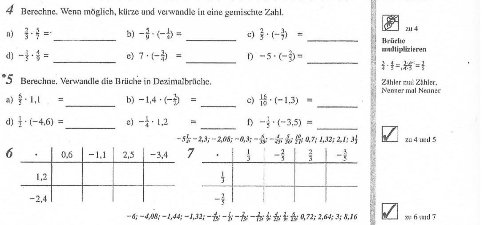 Tochter Bruchrechnen beibringen Gymnasium 7te Klasse ...