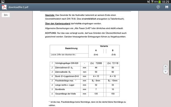 Aufgabenstellung (Teil 2) - (Schule, Technik)